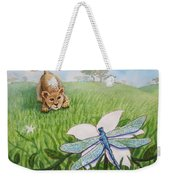 Beckoning The Little Predator To Come Closer Weekender Tote Bag