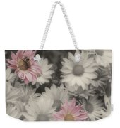 Bee And Daisies In Partial Color Weekender Tote Bag