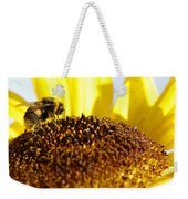 Bee And Flower Weekender Tote Bag by Les Cunliffe