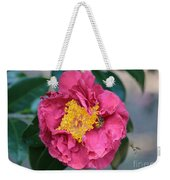Bee And Wasp On Camellia Weekender Tote Bag