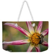 Bee Enjoying A Willie Willie Dahlia Weekender Tote Bag