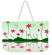 Bee Flowers Weekender Tote Bag