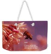 Bee Haiku Weekender Tote Bag