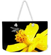 Bee In Black And White Weekender Tote Bag
