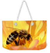 Bee In Flower Weekender Tote Bag