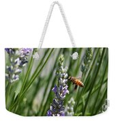 Bee In Lavender Weekender Tote Bag