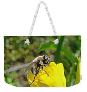 Bee Mimic On Primrose Weekender Tote Bag