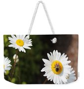 Bee On A Daisy 2 Weekender Tote Bag