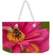 Bee On A Pink Daisy Weekender Tote Bag