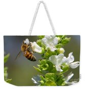 Bee On Basil Weekender Tote Bag