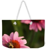 Bee On Coneflower Weekender Tote Bag