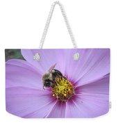 Bee On Cosmos Weekender Tote Bag