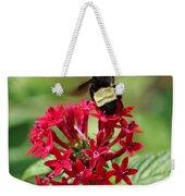 Bee On Flower Cluster Weekender Tote Bag