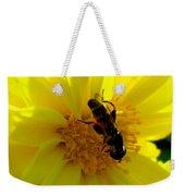 Honey Bee On Sunflower Weekender Tote Bag