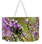 Bee On Heather Weekender Tote Bag