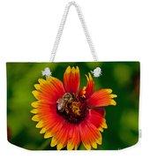 Bee On Orange Flower Weekender Tote Bag
