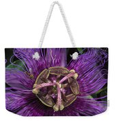Bee On Passion Flower Brazil Weekender Tote Bag by Pete Oxford