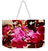 Bee On Pink Blossoms 031015aa Weekender Tote Bag