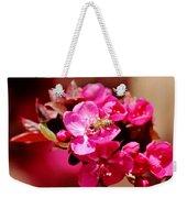 Bee On Pink Blossoms 031015ab Weekender Tote Bag
