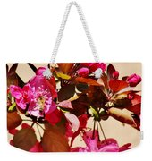 Bee On Pink Blossoms 031015ac Weekender Tote Bag