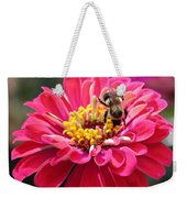 Bee On Pink Flower Weekender Tote Bag