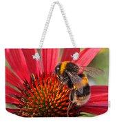 Bee On Red Coneflower 2 Weekender Tote Bag