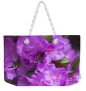 Bee On Rhododendrons Weekender Tote Bag