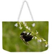 Bee On Wildflower Weekender Tote Bag