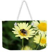 Bee On Yellow Weekender Tote Bag