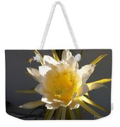 Bee Pollinating Dragon Fruit Blossom Weekender Tote Bag