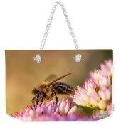Bee Sitting On Flower Weekender Tote Bag