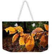 Beech Leaves In Winter Weekender Tote Bag