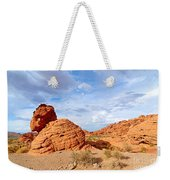 Beehive Rock Formation Under A Stormy Sky In Nevada Valley Of Fire State Park Weekender Tote Bag