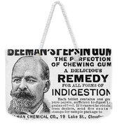 Beemans Pepsin Gum, 1895 Weekender Tote Bag