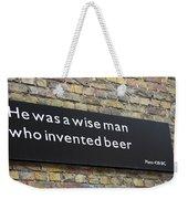 Beer Sign Weekender Tote Bag