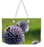 Bees On Globes Weekender Tote Bag