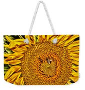 Bees On Sunflower Hdr Weekender Tote Bag