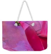 Beetle On A Rose Weekender Tote Bag