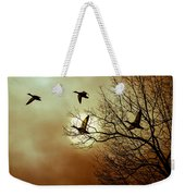Before A Winter Sky Weekender Tote Bag