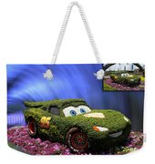 Before And After Sample Art 29 Floral Lightning Mcqueen Weekender Tote Bag by Thomas Woolworth