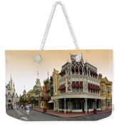 Before The Gates Open Early Morning Magic Kingdom With Castle. Weekender Tote Bag