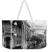 Before The Gates Open In Black And White Walt Disney World Weekender Tote Bag