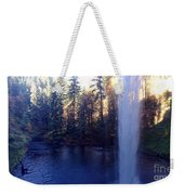 Behind Water Fall  Weekender Tote Bag