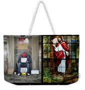 Behold I Stand At The Door And Knock Composite Weekender Tote Bag
