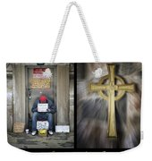 Behold I Stand At The Door Composite Weekender Tote Bag