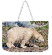 Beige Colored Polar Bear Weekender Tote Bag