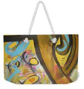 Being Easy Original Abstract Colorful Figure Painting For Sale Yellow Umber Blue Pink Weekender Tote Bag
