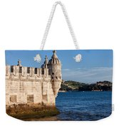 Belem Tower Fortification On The Tagus River Weekender Tote Bag