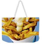 Belgian Fries With Mayonnaise On Top Weekender Tote Bag