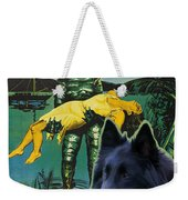 Belgian Shepherd Art Canvas Print - Creature From The Black Lagoon Movie Poster Weekender Tote Bag